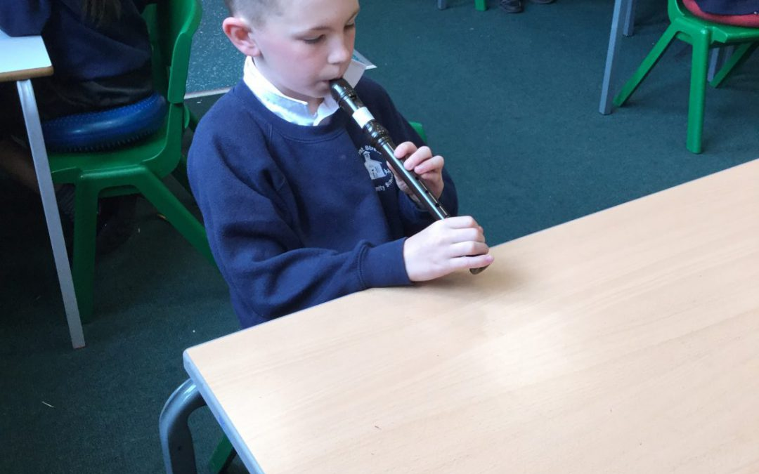 Class 6 becoming woodwind experts!