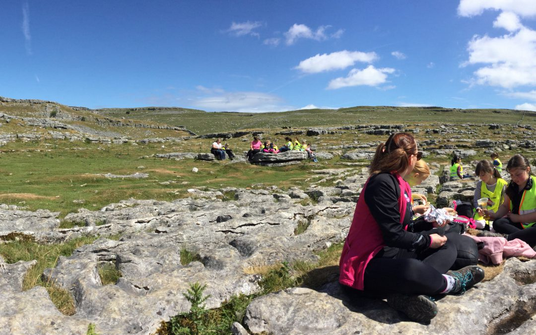 Beautiful sunshine at Malham Cove for Class 6's trip!
