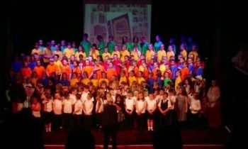 Massed joy as children sing their socks off!