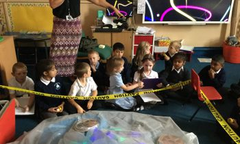 Alien crash landing in Class 4!